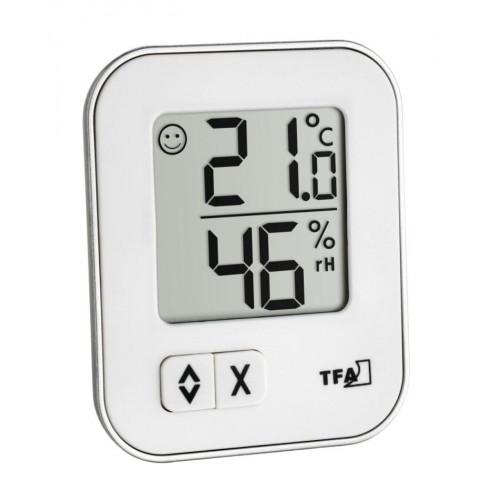 TFA 30.5026.02 MOXX digitális hőmérő páratartalom-mérővel - fehér