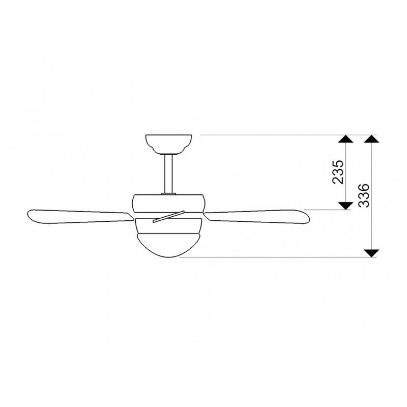 AireRyder CLASSIC mennyezeti ventilátor – fenyő