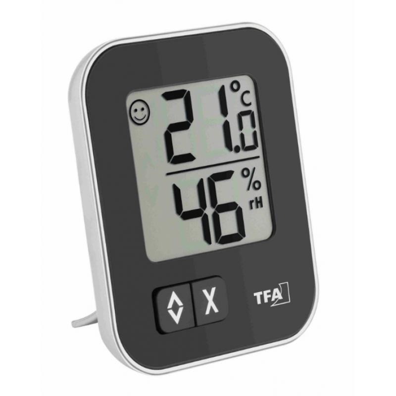 TFA 30.5026.01 MOXX digitális hőmérő páratartalom-mérővel - fekete
