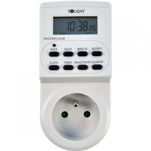 Solight digitális időkapcsoló óra